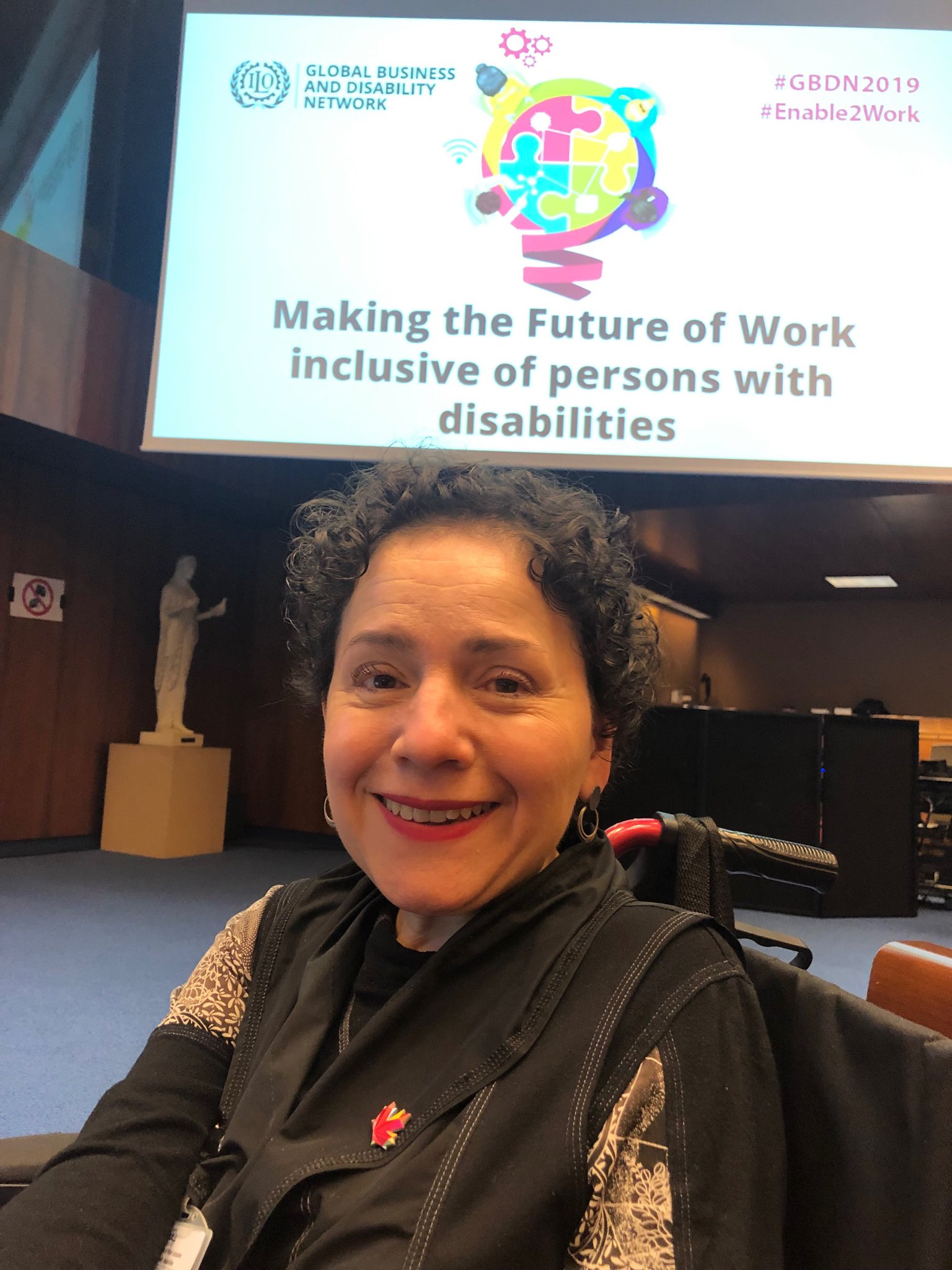 Figure 3: Yazmine attends the Global Business Disability Network Conference 2019 in Geneva